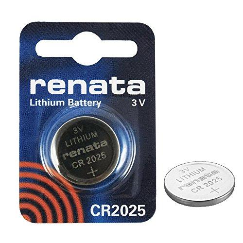 RENATA CR2025 LOT DE 2 PILES AU LITHIUM 3V