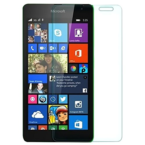 Kaira 0.3mm Anti Explosion Premium Tempered Glass, 9H Hardness, Anti-Scratch, Bubble Free & Oil Stains Coating for Microsoft Lumia 535
