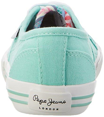 Pepe Jeans Baker Wash, Scarpe da Ginnastica Basse Bambina Turchese (Light WATER Green)