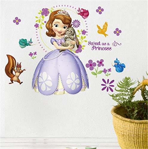 ssin Sofia Cartoon Tiere Fox Poster Für Kinderzimmer Kindergarten Selbstklebende Tapete Wohnkultur Wandaufkleber ()
