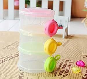 Rikang Three - Layered Transparent Color Plastic Baby Milk Food Powder Storage Case
