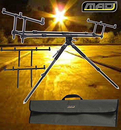 MAD Guardian 3de pierna Rod Pod–para 3cañas Incluye 2Stk. De 4Unidades Buzzer Bars