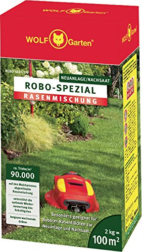 WOLF ROBO Spezial-Rasensamen für 100 m² (2 kg) - RO-SA 100
