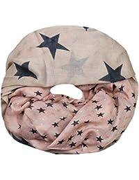 Mevina Schlauchschal mit Stern Stars Print viele Farben Viskose Sterne Druck