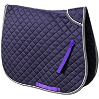 Rhinegold Twin Bound Saddle Cloth-COB-Purple Tela para sillín, Morado
