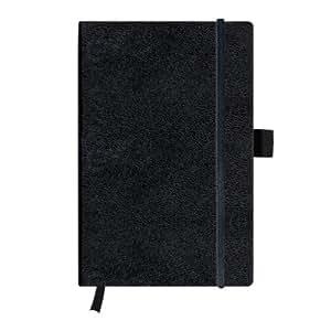 Herlitz 11369782 Notizbuch my.book Classic A5, 96 Blatt, liniert, schwarz