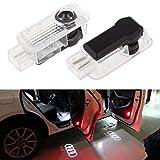 THG 2 X LED Auto Türbeleuchtung Tür Licht Door Shadow LED Logo 3D Laser Licht Projector Willkommen Licht für AUDI