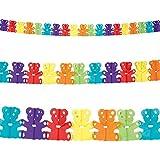 4m Colourful Teddy Bear Children's Birthday Party Paper Garland Decoration