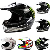 Leopard LEO-X18 Casco da Motocross per Bambini Cross e Off-road...