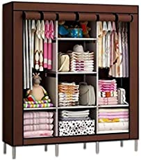 Anva Fancy and Portable Foldable Closet Wardrobe with Shelves