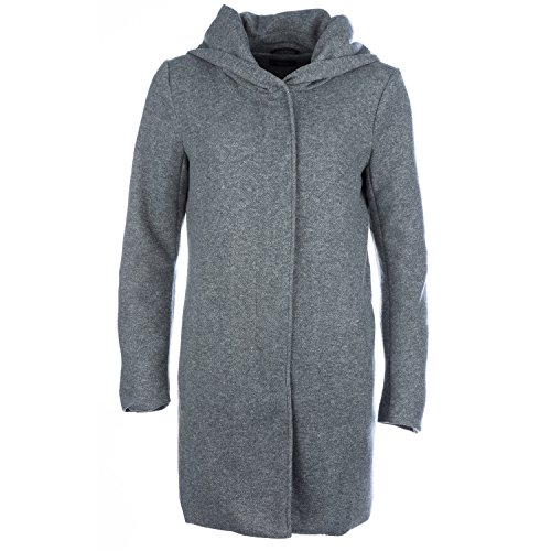 Only Damen Kurzmantel Übergangsmantel (S, Light Grey Melange)