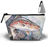 Collage of Fish Travel Toiletry Bag Makeup Bag Carry on Cosmetic Bag Travel