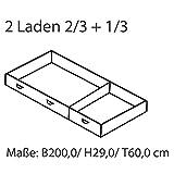 MeinMassivholz Karin Kiefer - Bettschubladen Modul 3 links (2 Schubladen B 133 cm und B 66,5 cm)