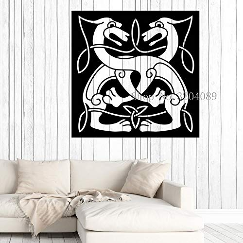 zhuziji Die antike griechische Mythologie fair Göttin Porträt Wandsticker Balance Symbol für Recht und Gerechtigkeit Decal Sofa Hintergrund 42x42cm