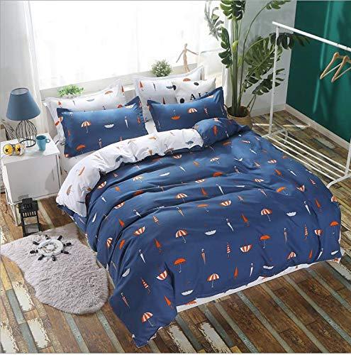 oll Königin König Bettwäsche Set Junge Kind Erwachsene Mädchen Bettwäsche Anzug Plaid Bettbezug Blatt Kissenbezug Deep Blue 150x200cm ()