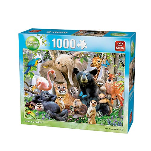 King Animal World Animal P. 1000 pcs Puzzle - Rompecabezas (Puzzle Rompecabezas, Fauna, Adultos, Animal World, Hombre/Mujer, 8 año(s))