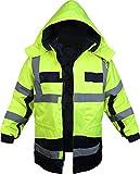 normani Outdoor- & Arbeitsbekleidung 4-in-1 Warnschutzparka Stonefield [S-4XL] Farbe Neongelb/Marine Größe L