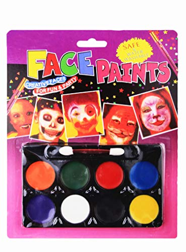 en Schminkfarben, Kinderschminke Set Kinder Parties Halloween Karneval Make-up Bodypainting (8 Farbe) ()