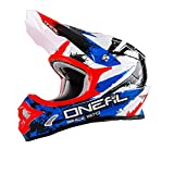 O'Neal 3Series Shocker MX Helm Schwarz Blau Rot Motocross Cross Enduro, 0623S-5, Größe XX-Large (63-64 cm)