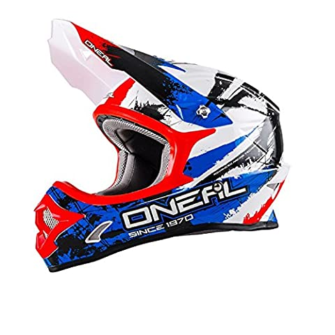 O'Neal 3Series SHOCKER MX Helm Schwarz Blau Rot, 0623S-5, Größe X-Large (61 - 62 cm)