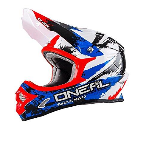 O'Neal 3Series SHOCKER MX Helm Schwarz Blau Rot Motocross Cross Enduro, 0623S-5, Größe Medium (57 - 58 cm)