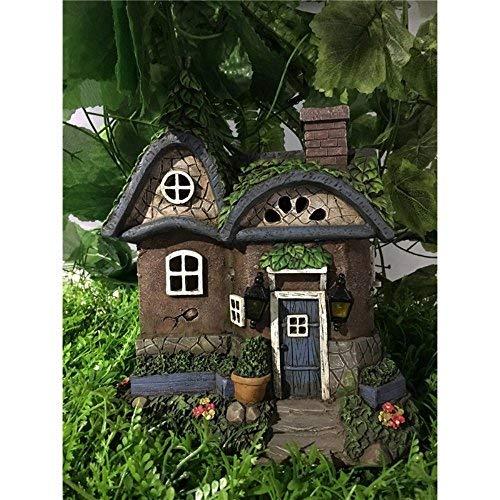 Hi-Line Gift Ltd. Fairy Garden Cottage mit Solar-LED-Lichtern