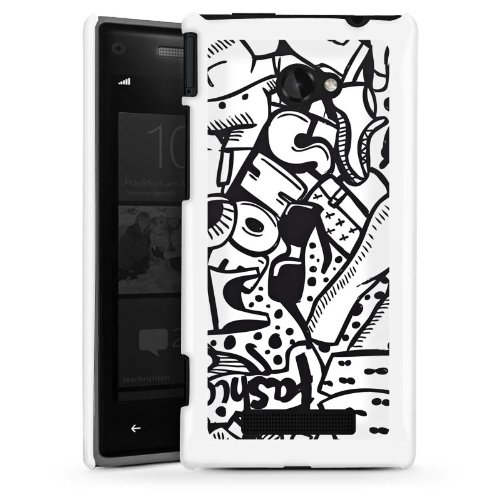 HTC Windows Phone 8X Hülle Schutz Hard Case Cover Kleidung Fashion Mode (Kleidung 8x)