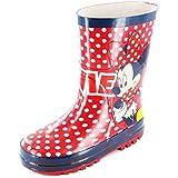 Minnie Mouse Tunbridge Girls Wellies/Wellington Boots - Red (6,7,8,9,10,11,12)