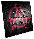 Canvas Geeks Anarchie zeichen Graffiti auf Leinwand, quadratisch Wand Kunstdruck Bild, 90cm wide x 90cm high