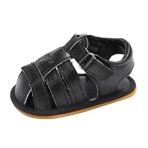 Deslizamento Criança Verão Sapatos Caminhantes De Sandálias Primeiro Preto Bzline® Bebê 5q1EBzqw