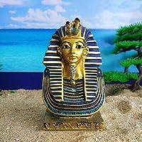 YunBest Mini Egyptian Pharaoh Tutankhamun -Ancient Egyptian Mask Of King Tut Bust Statue - Tall Pharaoh Tutankhamun Wearing Nemes Figurine BestShop