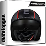 MOMO-DESIGN JET-HELM BLADE GRAU FROST ROT FLUO M