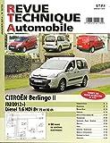 REVUE TECHNIQUE AUTOMOBILE N° 778 CITROEN BERLINGO 2 DIESEL 1.6 HDI 8v 75 ET 92 CH DEPUIS 02/2012 / EDITION JANVIER 2014