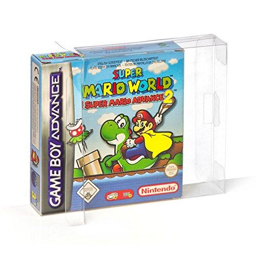 10 Klarsicht Schutzhüllen Nintendo GAME BOY ADVANCE [10 x 0,3MM GAME BOY] Spiele Originalverpackungen Passgenau Glasklar (Super Mario Bros Game Boy Color)