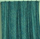 NOVUM fix Gardine Vorhang *1001 Nacht Blau-grün * toller Druck auf Microfaser * leicht fließende Qualität *Blickdicht, leicht verdunklend * (145x245cm)
