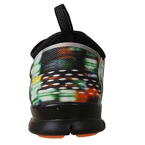 Nike Free 5.0 Print, Chaussures de running entrainement femme Black/Metallic Silver/Bright Mango