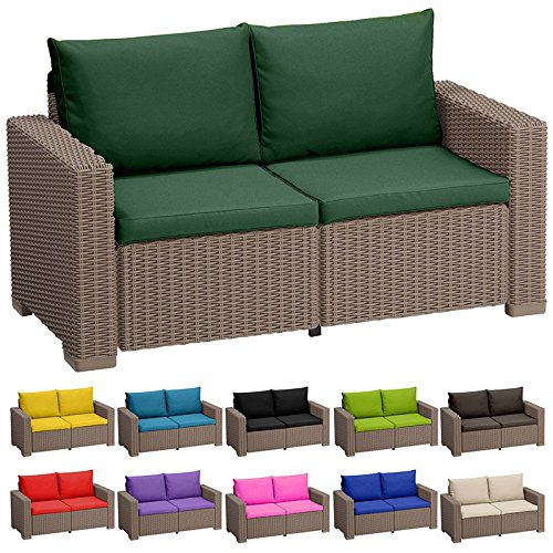 Stone replacement 4 piece seat cushions set for keter for Sofa exterior amazon