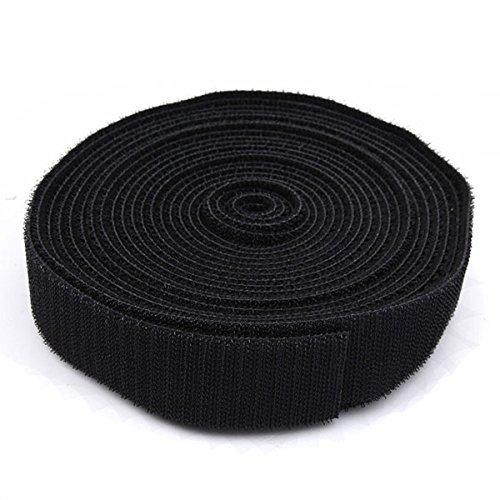 5m schwarz Umreifung Kabelbinder Magic Tape (zufällige: Breite)