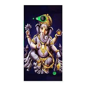 Premium Dancing Ganesha Back Case Cover for Lumia 730