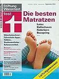 Stiftung Warentest - Die besten Matratzen - 9/2014