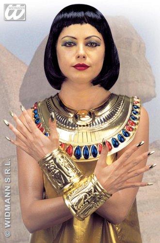Widmann Kleopatra-Halsband und -Armreife, Mehrfarbig, Einheitsgröße, - Slave Boy Kostüm