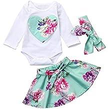 Ropa Bebe, Vestido de la niña, AIMEE7 Recién Nacido Infantil Bebé Floral Heart Romper