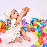 Modaka 200 Palla Oceanica Palline Colorate per piscina,Sfera di plastica dell'oceano della piscina della palla molle di plastica colorata multi dei bambini