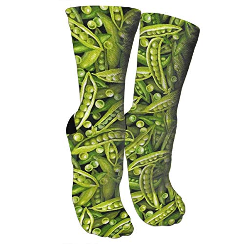 Crew Seide Crew Socken (Nifdhkw Crazy Socks A Lot of Peas 3D Crew Socks)