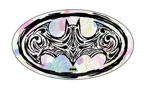 "BATMAN OP ART LOGO, Officially Licensed Original Artwork, 2.8"" x 5"" - Sticker DECAL autocollant"