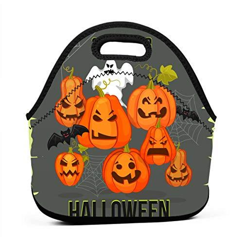 Kinder Lunchtaschen für Mädchen - Oktober 31 Halloween-Banner, günstige Taschen für Frauen, 3D-Druck, Lunchbox, Lebensmittelbehälter, Picknick-Tasche, Handtasche