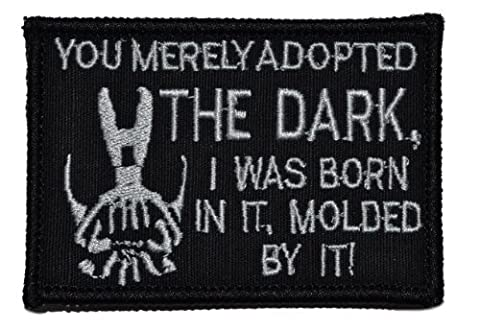 Bane Speech You Merely Adopted the Dark Dark Knight 2x3 Military Patch / Morale Patch - Black by Tactical Gear Junkie