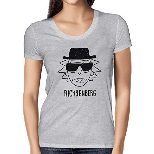 NERDO - Ricksenberg - Damen T-Shirt, Größe S, grau (Kostüme Tv Rom Serie)