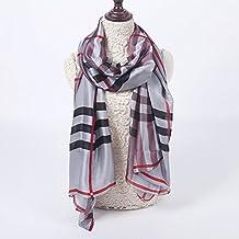 Pañuelo de seda de la bufanda de la bufanda doble toalla de playa 100 * 180cm para la piscina, el nadar, la playa, el recorrido, el acampar , gray
