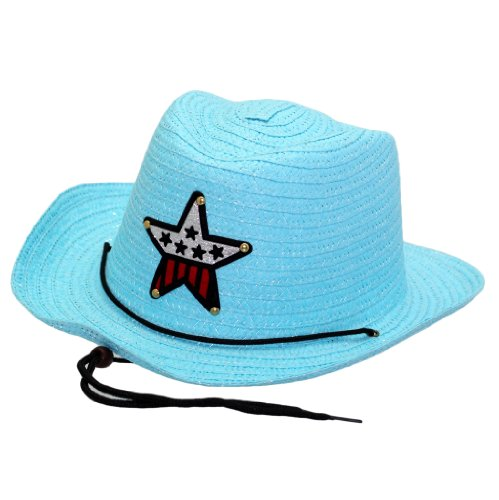 Modischer Cowboy Hut Cowboyhut Westernhut Mit Stern Texas Western Style in (Mädchen Kostüme Kinder Kansas)